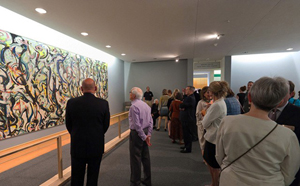 The University of Iowa Museum of Art's exhibition 'Jackson Pollock Mural' was the best-attended art exhibition in UIMA's history. Image courtesy of UIMA.