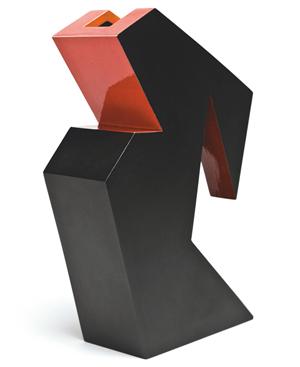 Ken Price (American, 1935–2012) 'Black Widow,'1980. Glazed ceramic, 10 3/8 x 3 x 5 1/2 in.The Metropolitan Museum of Art, New York,Promised Gift of Howard L. and Judie Ganek (RL.13.1998.4.1) © Ken Price. Photograph © Fredrik Nilsen.