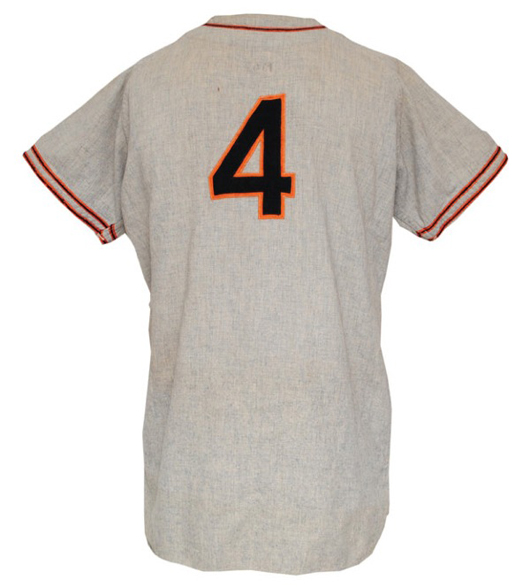 1947 Mel Ott New York Giants player/manager's worn road jersey, $77,820. Grey Flannel Auctions image.