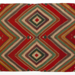 This circa 1890 Germantown 'Eye Dazzler' is just one of 30 Native American textiles to be sold at John Moran Auctioneers' June 18 auction. John Moran Auctioneers image.