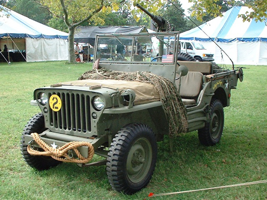 A Willys MB, better known as a jeep, at a military vehicle show in Virginia in 2006. Image by Mytwocents. This file is licensed under the Creative Commons Attribution-Share Alike 3.0 Unported license.