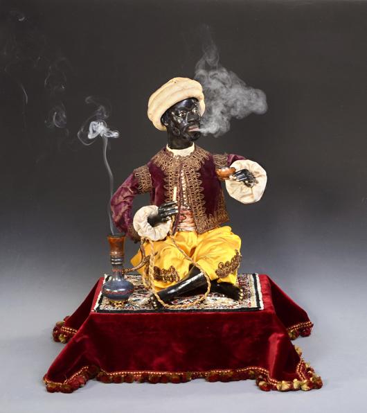 The Narghile Smoker automaton by Lambert brought 13,526 euros (US $17,600). Auction Team Breker image.