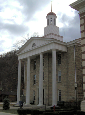 Lewis County Courthouse in Vanceburg, Kentucky. Photo by Sydney and Russell Poore, licensed under the Creative Commons Attribution-Share Alike 3.0 Unported license.
