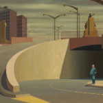 Jeffrey Smart (Australian, 1921-2013), 'Cahill Expressway,' 1962. National Gallery of Victoria, Melbourne. Purchased in 1963. Copyright National Gallery of Victoria.