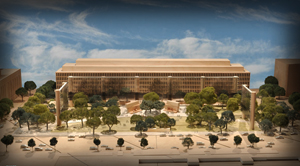The Dwight D. Eisenhower Memorial will be situated at the base of Capitol Hill, across Independence Avenue from the National Air and Space Museum and north of the U.S. Department of Education. US Government image.