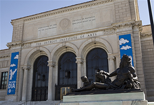 Woodward Entrance to the Detroit Institute of Arts (DIA). Image courtesy of DIA.