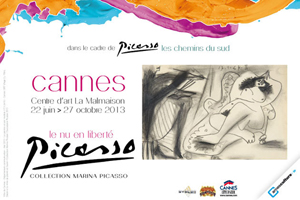 Poster announcing the exhibition 'Picasso, Nudity Set Free' at Le Centre d'Art la Malmaison. Image courtesy of the museum.