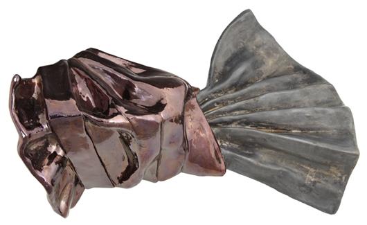 Untitled glazed ceramic sculpture by American artist Lynda Benglis (b. 1941), artist's proof, est. $10,000-$15,000. Crescent City Auction Gallery image.