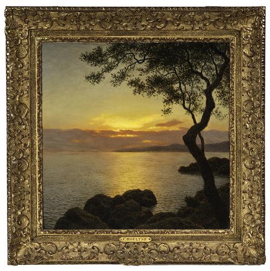 Ivan Federovitch Choultse, 'Coucher de Soleil Sur la Mer,' oil on canvas, estimate $30,000/40,000. Cowan's image.