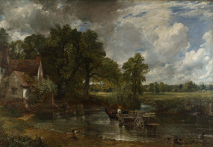 John Constable (English, 1776-1837), 'The Hay Wain,' 1821. Photographic reproduction of the original work of art.