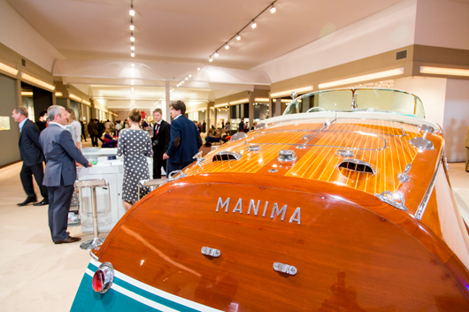 Luxury goods such as Riva powerboats were among the star attractions at the prestigious Masterpiece Fair in London. Image courtesy Masterpiece Fair.