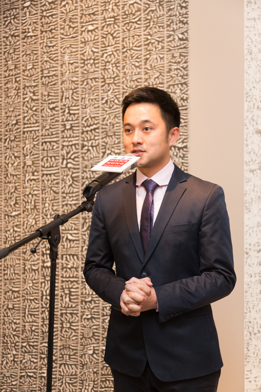 Calvin Hui, co-chairman and director of the Fine Art Asia Fair, sponsors of the Hong Kong Pavilion at Masterpiece, London 2013. Hui seeks to foster strong ties between the Fine Art Asia Fair and Masterpiece. Image courtesy Hong Kong Pavilion.