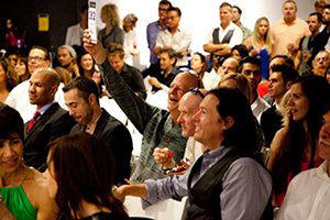 A shot of the crowd at the AIDS Project Los Angeles art auction fundraiser. Image courtesy of AIDS Project Los Angeles art auction fundraiser.