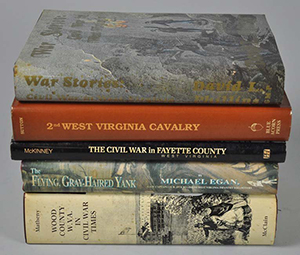 Books on the Civil War in West Virginia. Image courtesy of LiveAuctioneers.com Archive and Ken Farmer Auctions.