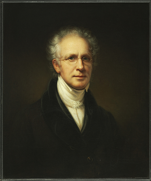 'Self-Portrait,' 1840. Rembrandt Peale, American, 1778 - 1860. Oil on canvas, 30 x 25 inches (76.2 x 63.5 cm). Philadelphia Museum of Art, Gift of the McNeil Americana Collection, 2009.