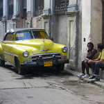 A 1952 Chevrolet, an example of what locals call a 'Yank tank,' parked on a street in Havana, Cuba. Photo by Dirk van der Made, licensed under the Creative Commons Attribution-Share Alike 3.0 Unported license.
