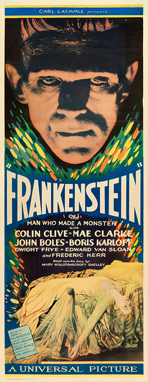 The 'Frankenstein' poster sold for $262,900 at Heritage Auctions, a record for a movie insert poster. Heritage Auctions image.