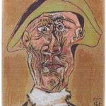 Dutch police handout photo of Pablo Picasso's 'Tete d'Arlequin,' one of the paintings stolen in a daring art heist in the Netherlands. This particular artwork may have been incinerated by the mother of the perpetrator, in an effort to destroy incriminating evidence.