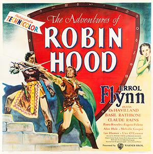 'The Adventures of Robin Hood' (Warner Brothers, 1938), six sheet (81