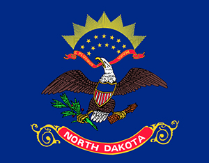 Flag of the State of North Dakota.