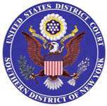 Seal of the United States District Court, Southern District of New York.