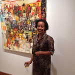 London-based Raku Sile, curator of the exhibition of recent work by Ethiopian painter Wosene Kosrof at the Gallery of African Art in Cork Street. Image: Auction Central News.