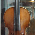 Example of a rare, 1703 Antonio Stradivari violin, unrelated to the stolen violin referenced in this article. The violin depicted here was displayed at Musikinstrumenten Museum in Berlin, Germany. Photo taken by Husky on August 8, 2006, licensed under the Creative Commons Attribution-Share Alike 3.0 Unported license.