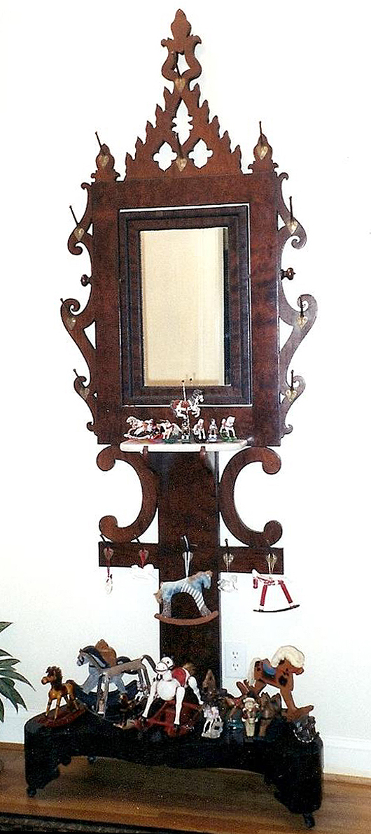 This Scary Looking Piece Is A Hall Stand Made Around Mid 19th Century In The