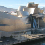 Among the international branches of the Guggenheim is the Frank Gehry-designed Guggenhaim Bilbao, a striking architectural addition to the Spanish city's riverfront. Photo by MykReeve, licensed under the Creative Commons Attribution-Share Alike 3.0 Unported license.