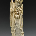 Chinese carved ivory figure of Shoulao, 11 inches. Estimate: $600-$800. I.M. Chait Gallery/Auctioneers image.