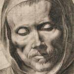 Francisco de Zurbarán (Spanish, 1598–1664), 'Head of a Monk,' black chalk and gray wash, circa 1635–1655. Image courtesy of New Mexico Museum of Art.