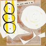 Robert Motherwell, 9th Street Exhibition, 1951. Watercolor, ink, gouache, and pasted drawing paper, printed paper, and Kraft paper on paperboard, 28.6 x 36.5 cm. Mildred Lane Kemper Art Museum, Washington University, St. Louis, Gift of Mr. and Mrs. Joseph L. Tucker, 1963 © Dedalus Foundation, Inc./Licensed by VAGA, New York. Photo: Courtesy Dedalus Foundation, Inc.