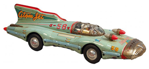 Atom Jet friction race car. Price realized: $4,200. Victorian Casino Antiques image.