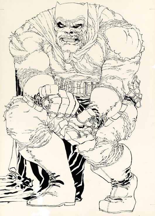 Frank Miller 'Batman: The Dark Knight Returns' #2 cover original art (DC, 1986). Heritage Auctions image.