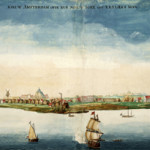 An early view of New Amsterdam in 1664, the year it was taken over by the English. Image courtesy of Wikimedia Commons.