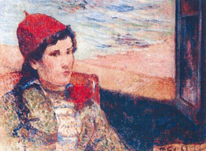 A Romanian art expert says she was shown Paul Gauguin's 'Femme Devant une Fenetre Ouverte, dite La Fiancee,' one of the works stolen in the Dutch museum heist. Rotterdam police image, courtesy of Wikimedia Commons.