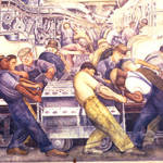 Detail of a Diego Rivera fresco at the Detroit Institute of Art. Image by Carptrash (talk). This work is licensed under the Creative Commons Attribution-Share Alike 3.0 license.