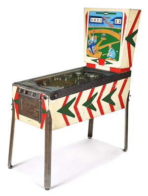 This Gotlieb 'Baseball' pinball machine will be sold at an auction by Pook & Pook Inc. in Downingtown, Pa., Sept. 7. Image courtesy of LiveAuctioneers.com and Pook & Pook Inc.