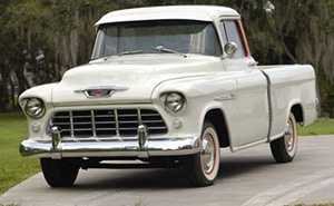 The half-ton Cameo pickup for 1955 was designed as Chevrolet's first sporty truck. Image courtesy of LiveAuctioneers.com Archive and RM Auctions.