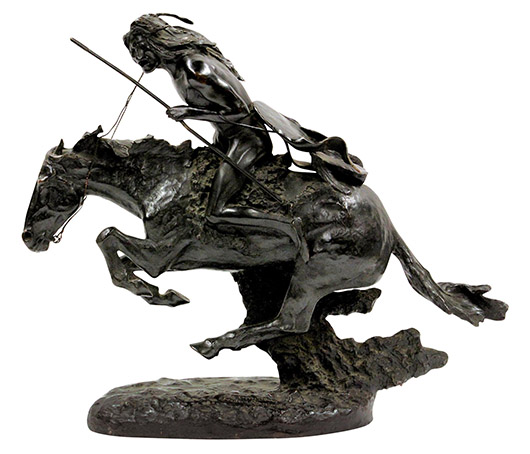 Charles Remington bronze, 'The Cheyenne.' Clars Auction Gallery image.