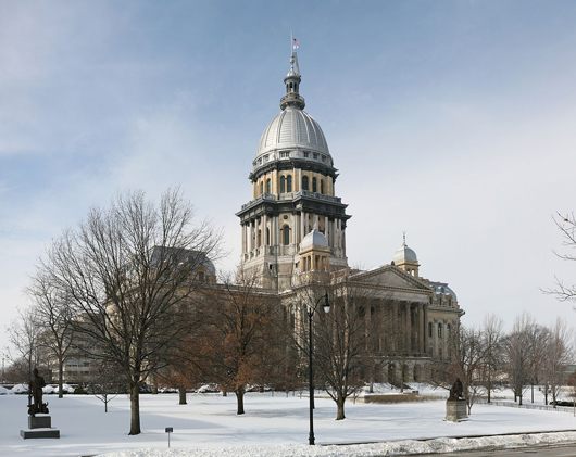 The Illinois Capitol in downtown Springfield. Image by Daniel Schwen. This file is licensed under the Creative Commons Attribution-Share Alike 3.0 Unported license.