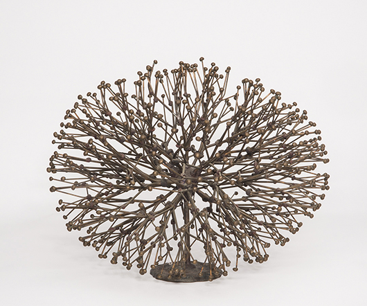 Harry Bertoia (Italian/American, 1915-1978), 'Bush,' metal sculpture, est. $25,000-$20,000. Quinn's Auction Galleries image.