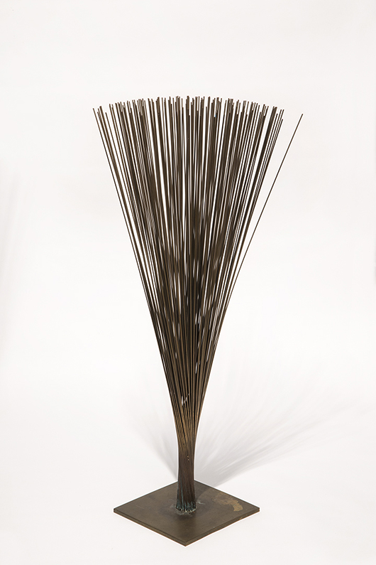 Harry Bertoia (Italian/American, 1915-1978), 'Spray,' kinetic metal sculpture, est. $25,000-$20,000. Quinn's Auction Galleries image.