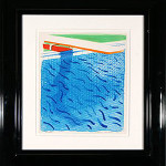 David Hockney (American, b. 1937), 'Blue Pool,' color lithograph 1980, 43/1,000. Image courtesy LiveAuctioneers.com Archive and Trinity International Auctions image.