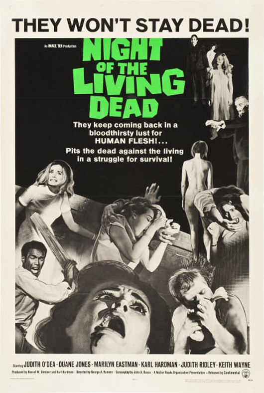 'Night of the Living Dead' (Continental, 1968), one-sheet poster. Image courtesy of LiveAuctioneers.com Archive and Heritage Auctions.