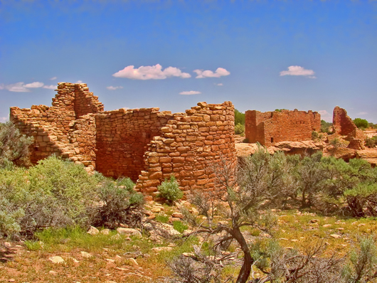 Hovenweep House, Hovenweep National Monument. Image by Jsweida. This file is licensed under the Creative Commons Attribution-Share Alike 3.0 Unported license.