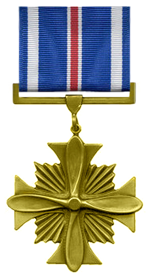 The Distinguished Flying Cross, a United States military medal. Image courtesy Wikimedia Commons.