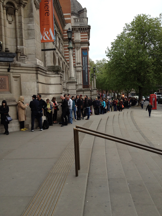 The queues assembling every morning during the recent David Bowie exhibition at London's Victoria and Albert Museum testified not only to the Thin White Duke's global following but also to London's popularity as a tourist destination. Image: Auction Central News.