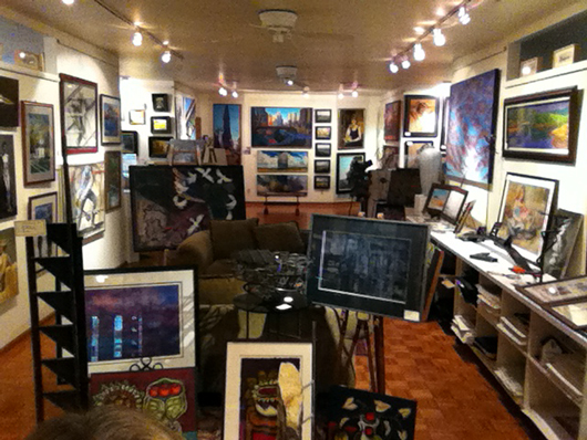 Steeple Gallery interior. Image courtesy of Steeple Gallery.