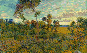Vincent van Gogh (Dutch, 1853-1890), 'Sunset at Montmajour,' 1888, from the collection of the Van Gogh Museum, Amsterdam. Image courtesy of the Museum.